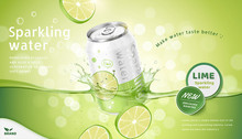 Lime Flavor Sparkling Water