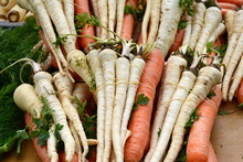 Fresh, Parsnips And Carrots At...