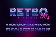 Retro Font Effect Based On The...