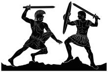 Two Mythological Heroes, Achil...