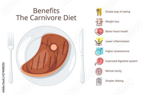 Fotografía Carnivore diet benefits web banner template