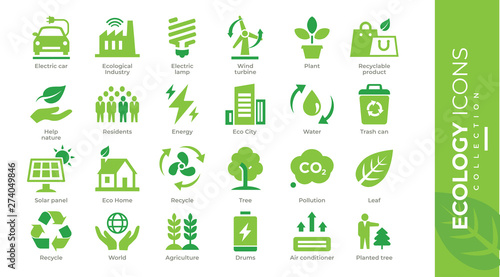 icônes écologie Tableau sur Toile