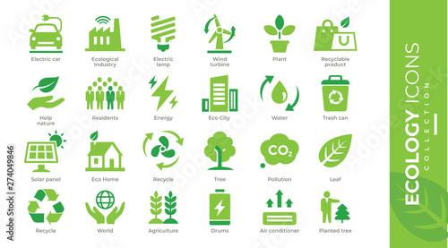 Canvastavla  icônes écologie