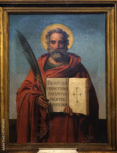 Fotografia, Obraz Saint, altarpiece in the Notre Dame de Lorette in Paris, France