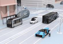 Scene Of Modern Urban Transpor...