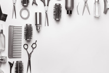 Set Of Hairdresser Tools And A...