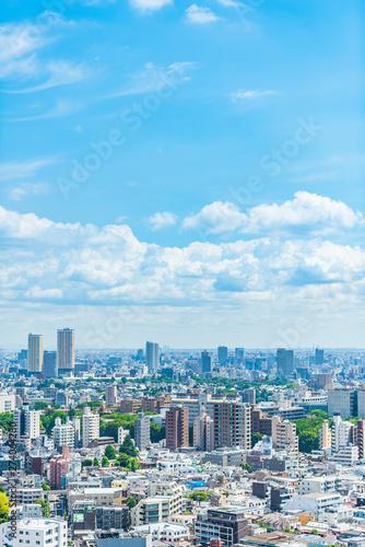 東京風景 Tokyo city skyline , Japan.