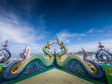 Naga Or Serpent Statue In Wat ...