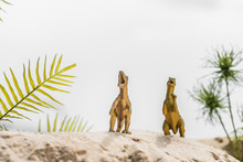 Selective Focus Of Toy Dinosau...