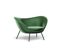 3d Rendering Of An Isolated Modern Green Velvet Lounge Armchair
