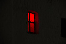 Window With Burning Red Light ...