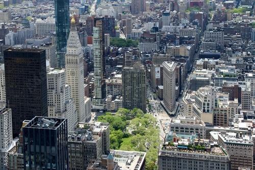 Fotografiet city, new york, skyline, panorama, manhattan, skyscraper, building, view, buildi