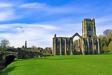 Blue Sky Thinking At Fountain's Abbey, North Yorkshire, England
