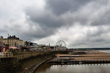 Darkness Descends Before Easter, Across Bridlington Pleasure Beach