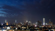 View of Kuala Lumpur Skyline from top of a building KL tower KLCC Tun Razak Exchange TRX