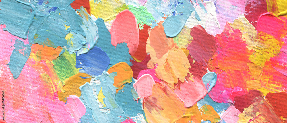 Fototapeta Abstract acrylic and watercolor painting. Canvas background.