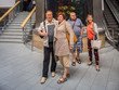 Elderly people communicate in the Mall