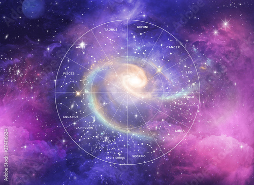 Foto zodiac wheel - universe -astrology - star signs