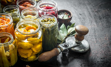 Various Preserved Food In Jars...