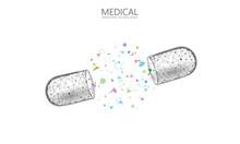 Opened Drug Capsule Medicine B...
