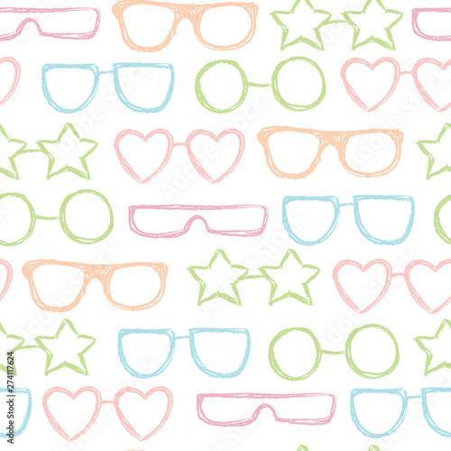 фотография  Vector seamless sunglasses pattern