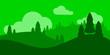 Leinwanddruck Bild - landscape with trees