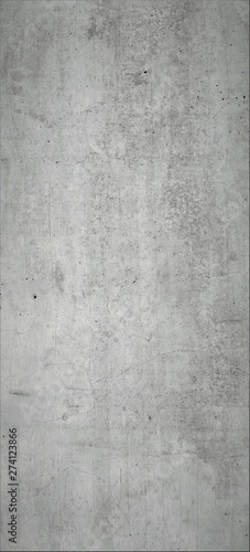Graue Betonwand, Grauer Hintergrund, Rustikale Textur im Hochformat Wallpaper Mural
