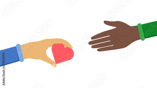 Obraz na płótnie International cooperation symbol flat illustration