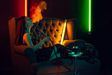 Sexy Brunette Model Is Smoking...