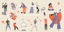 Set Of Vector Illustrations Of...