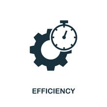 Efficiency Vector Icon Symbol. Creative Sign From Quality Control Icons Collection. Filled Flat Efficiency Icon For Computer And Mobile
