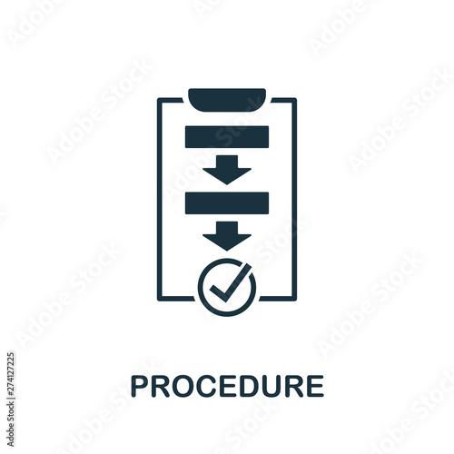 Valokuva  Procedure vector icon symbol