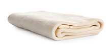 Fresh Dough On White Background. Puff Pastry