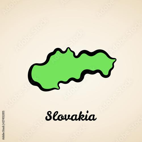 Fotografía Slovakia - Outline Map