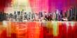 canvas print picture - Manhattan harbor