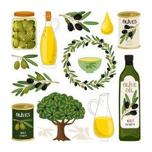 Olive Symbols Vector Illustrat...