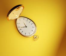 Golden Vintage Pocket Watch Is...