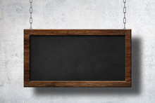 Large Blackboard Hanging On Ch...