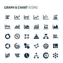 Graph & Chart Vector Icon Set....