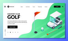 Golf Club Vector Isometric Ill...