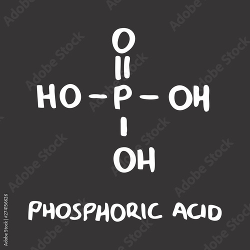 Phosphoric acid formula Canvas Print