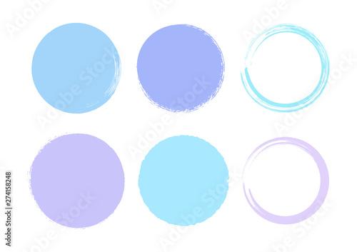 Fotomural Brush Circle Logo Template Vector