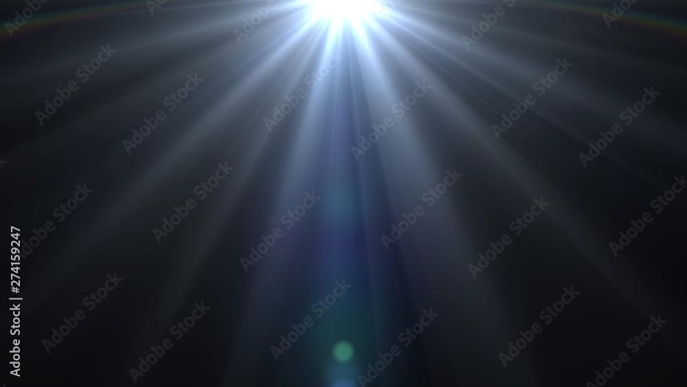 Fototapety, obrazy: lights flares background glow light bright blue for overlay sun background design