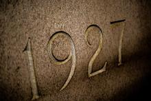 Vintage 1927 Numbers On Wall