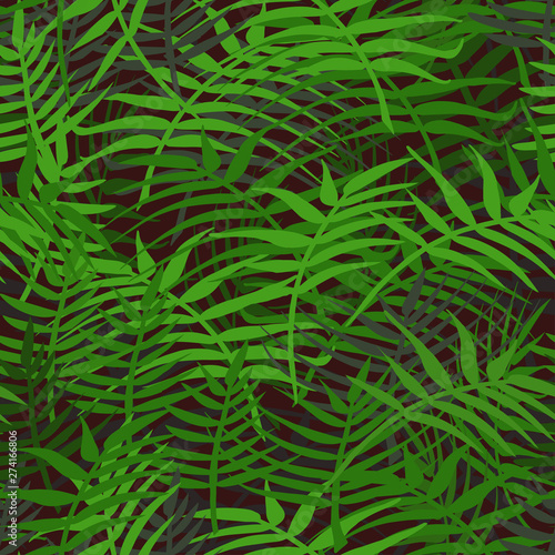 Recess Fitting Tropical leaves Green grass background