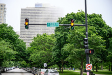 Traffic Light On The Road