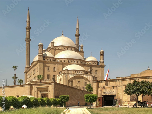morning view of the alabaster mosque in cairo, egypt Canvas Print
