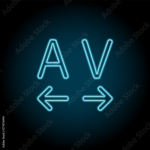 Tracking, text neon icon  Simple thin line, outline vector