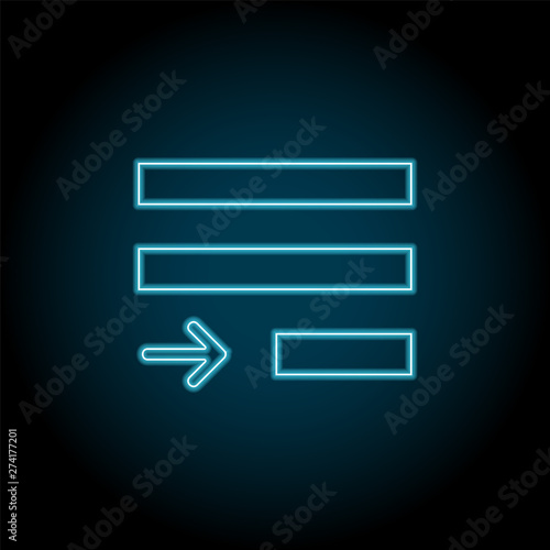 justify text neon icon  Simple thin line, outline vector of