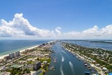 Aerial View Of Ono Island, Alabama And Perdido Beach, Florida